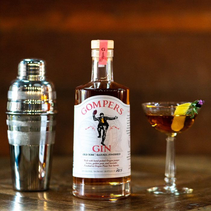 Benedict Andre craft cocktail recipe with gin from Gompers Distillery