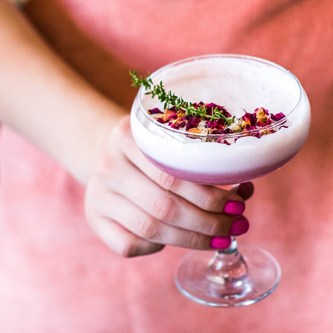 Creme de Violette Gin cocktail recipe from Gompers Distillery